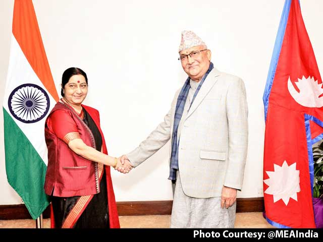 Video : Sushma Swaraj In Kathmandu, India Budgets For Better Ties With Nepal