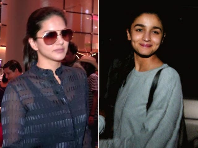 Celeb Spotting! Alia Bhatt Outside A Restaurant & Sunny Leone At The Airport