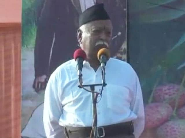 "Video : Amid Row, RSS Says Chief Mohan Bhagwat's ""Army"" Remark Misrepresented"