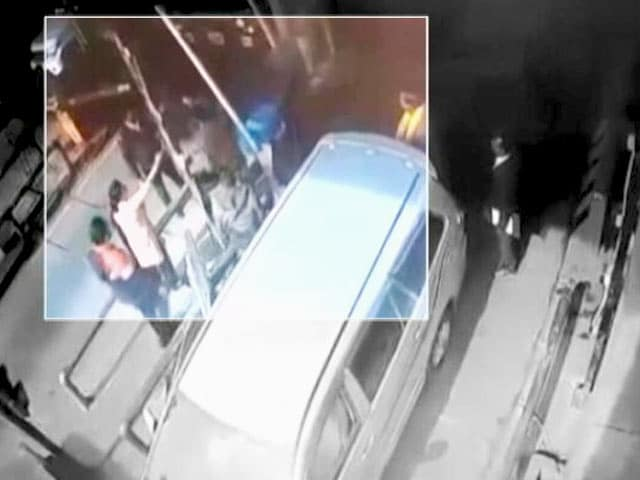 Video : Sitting In Car, BJP Lawmaker Watches His Son Beat Up Toll Booth Worker