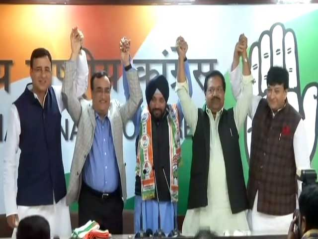 "Video : ""Was Ideological Misfit In BJP"": Arvinder Singh Lovely Returns To Congress"