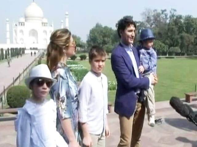 Video : Justin Trudeau Starts India Visit With A Trip To Taj Mahal