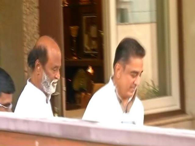 Video : Kamal Haasan Meets Rajinikanth Ahead Of Political Tour, Triggers Fan Frenzy
