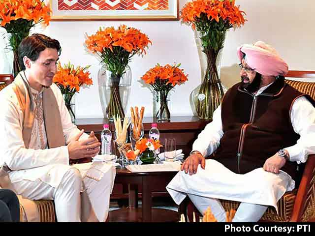 "Video : In Meeting With Justin Trudeau, Amarinder Singh Raises ""Khalistan Issue"""