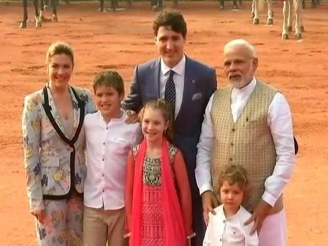 Video : Justin Trudeau Welcomed At Rashtrapati Bhavan, Meets PM Modi