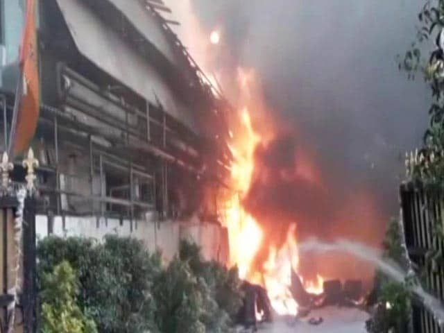 Video : Fire At Chemical Unit In Hyderabad's Jeedimetla Area, 8 Injured