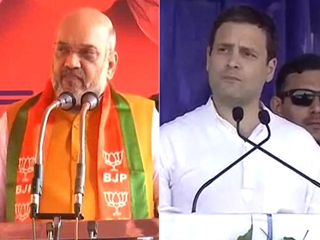Video : In Karnataka, Amit Shah, Rahul Gandhi Face Off With Parallel Campaigns