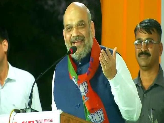 Video : At Karnataka Rally, Amit Shah Mocks, Mimics Rahul Gandhi. Watch