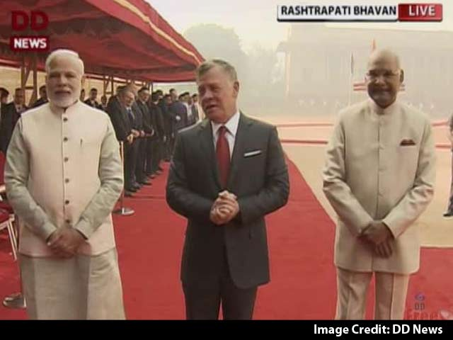 Video : Jordanian King Abdullah II Receives Ceremonial Welcome At Rashtrapati Bhavan
