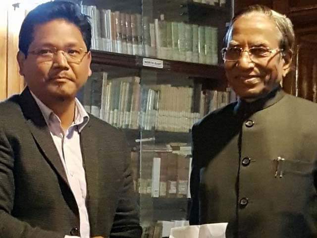 Video : BJP Ally Stakes Claim To Meghalaya Government, Congress Falters