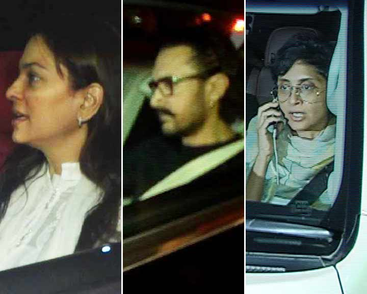 Aamir Khan, Kiran Rao & Juhi Chawla Offer Condolences To Sridevi's Family
