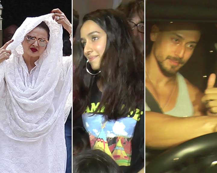 Celeb Spotting! Rekha, Shraddha Kapoor, Tiger Shroff & Others Snapped In Mumbai