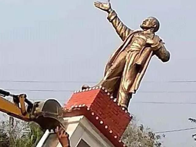 Video : Lenin's Statue Bulldozed, Sitaram Yechury Calls For Protests