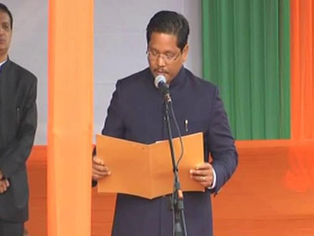 Video : Conrad Sangma, Backed By BJP, Takes Oath As Meghalaya Chief Minister
