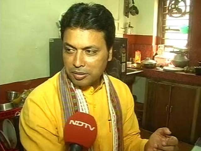 Video : Tripura's People Are My <i>Dal Roti</i>: Biplab Deb, Set To Be Chief Minister