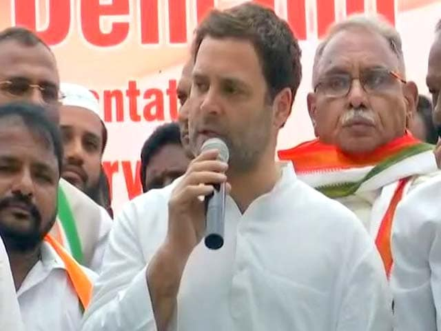 Video : Special Status For Andhra Pradesh If Elected In 2019: Rahul Gandhi