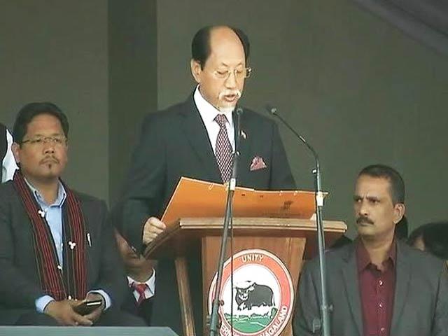 Video : Neiphiu Rio Takes Oath As Nagaland Chief Minister
