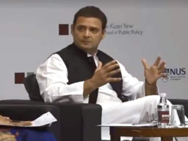 "Video : ""Atmosphere Of Intimidation"": Rahul Gandhi's Attack On BJP In Singapore"