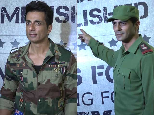 Arjun Rampal, Sonu Sood & Others At The Wrap-Up Party Of Paltan