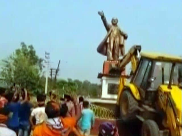 Video : Where Tripura Lenin Statue Stood, Theories On Vandalism Also Pulled Down
