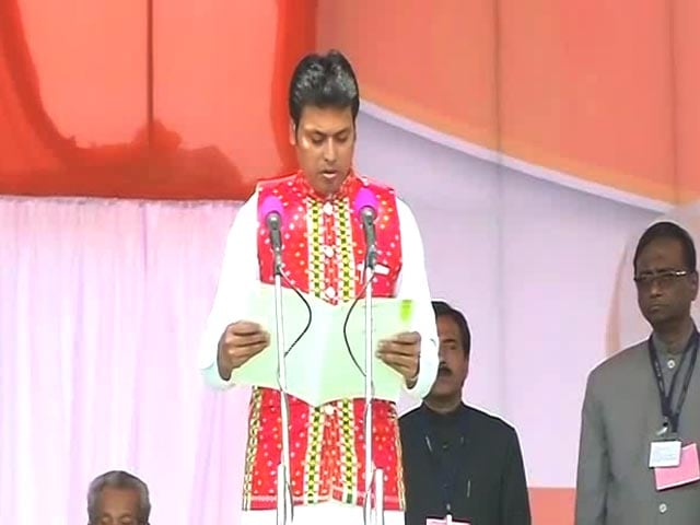 Video : Biplab Deb Takes Oath As Tripura Chief Minister, PM Present