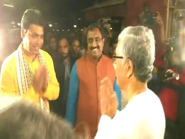 Video : In Unusual Gesture, BJP Leader Goes To Tripura's CPM Office, With Invite