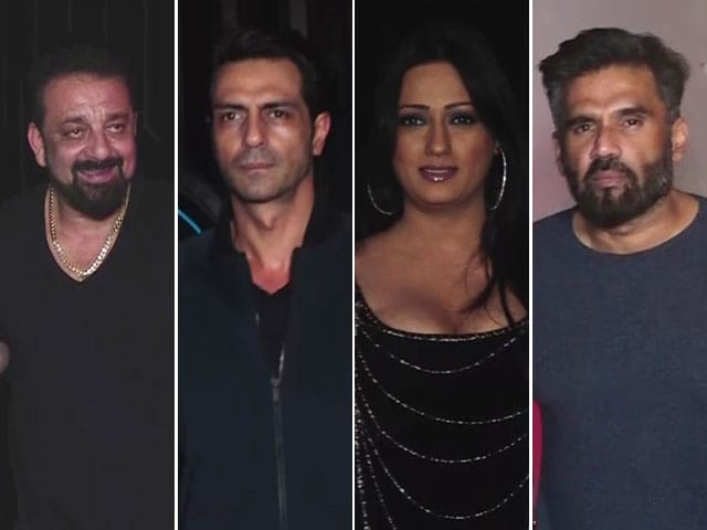 Spotted! Sanjay Dutt, Suniel Shetty & Others At An Event In Mumbai