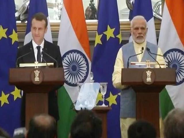 Videos : भारत दौरे पर फ्रेंच राष्ट्रपति इमैनुएल मैक्रों