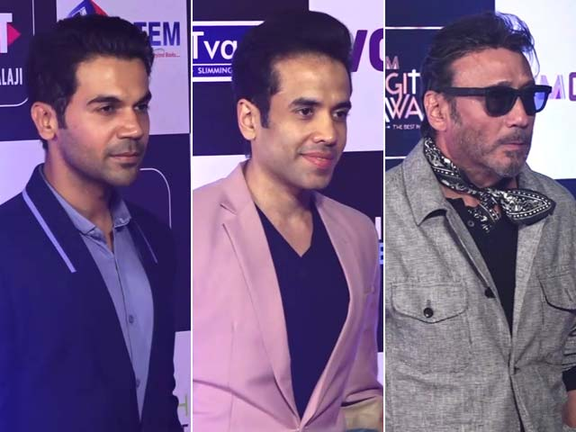 Rajkummar Rao, Jackie Shroff & Other Actors Attend Digital Awards In Mumbai