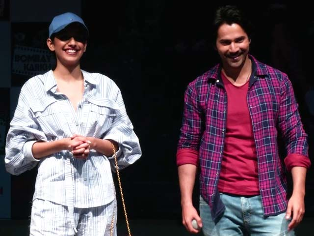 Varun Dhawan At A Mumbai College To Promote October