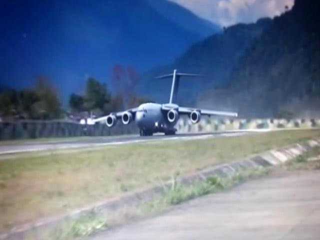 Video : Air Force Lands Its Largest Transport Aircraft In Arunachal Pradesh's Tuting