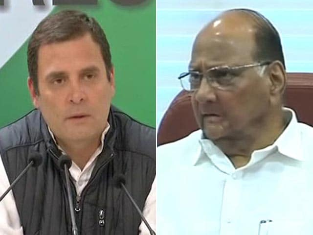 Video : Rahul Gandhi Meets Sharad Pawar Hours After BJP's Bypoll Defeat