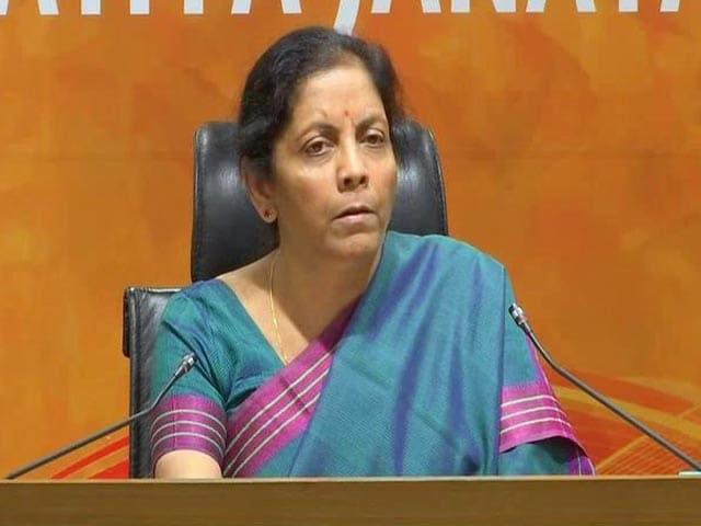 "Video : ""Rhetoric Of Loser"": Nirmala Sitharaman Counters Rahul Gandhi Speech"
