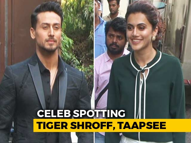 Video : Celeb Spotting: Tiger Shroff, Ranveer Singh, Taapsee Pannu & Others