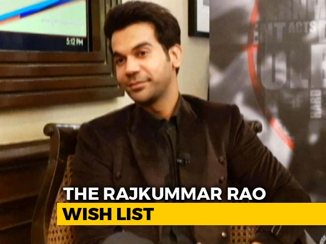 Video : I Want To Work With Irrfan Khan: Rajkummar Rao