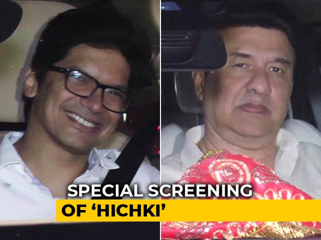 Video : Rani Mukerji Hosted A Special Screening Of <i>Hichki</i>