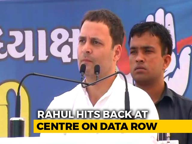 Video : Centre 'Invented' Congress Role In Data Row As Distraction: Rahul Gandhi