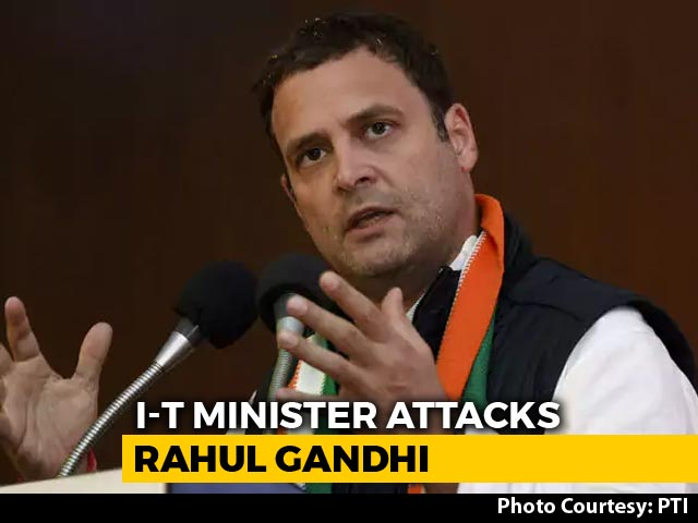 Video : Cambridge Analytica Behind Rahul Gandhi's 'Gabbar Singh Tax' Jibe, Minister Implies