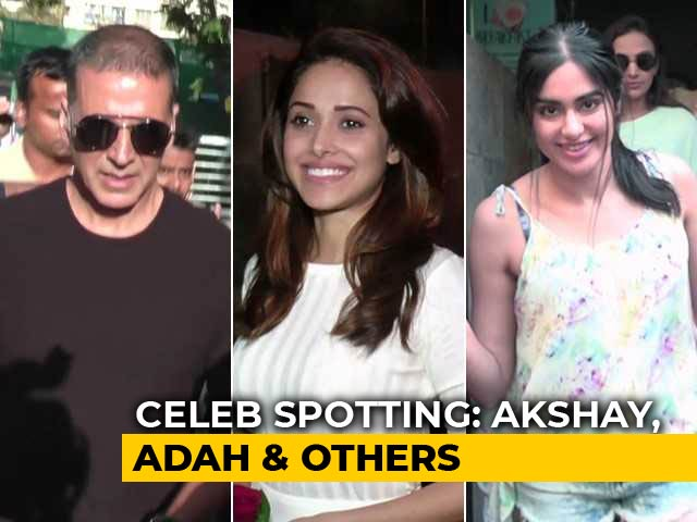 Celeb Spotting: Akshay Kumar, Adah Sharma, Nushrat Bharucha & Others