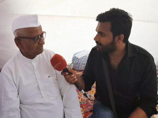 Videos : आंदोलन के दूसरे दिन अण्णा हजारे ने NDTV से की खास बातचीत