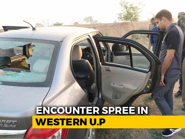 Video : In Six Encounters, Two Shot Dead In UP Within 24 Hours, AK-47 Recovered