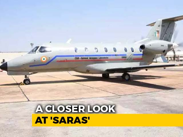 "Video : A Closer Look At ""Saras"", India's First Home-Made Passenger Plane"
