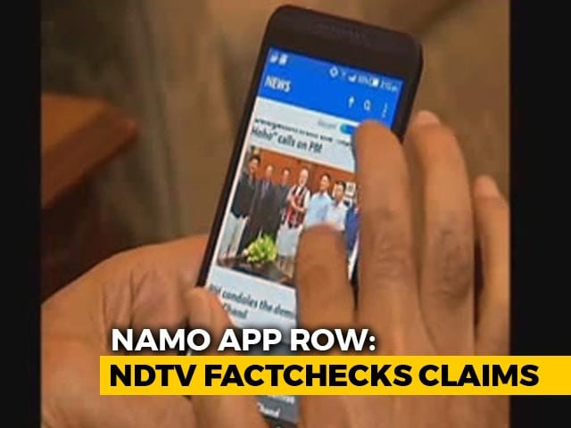 Video : Narendra Modi App Sends User Data To US Firm, Reveals Fact-Check