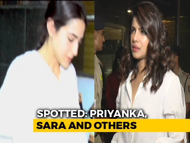 Video : Spotted! Priyanka Chopra, Shah Rukh Khan, Sara Ali Khan & Others