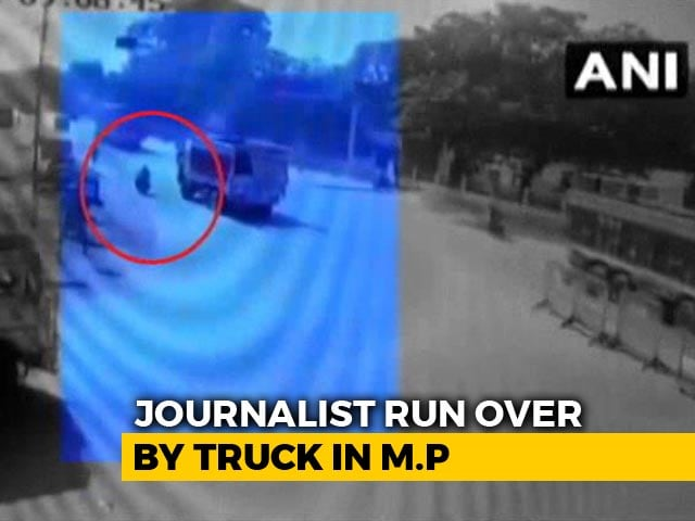 Video : On Camera, The Chilling Moment A Journalist Was Crushed By Truck