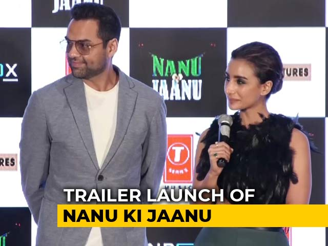 Video : Abhay Deol & Patralekha At The Trailer Launch Of <i>Nanu Ki Jaanu</i>