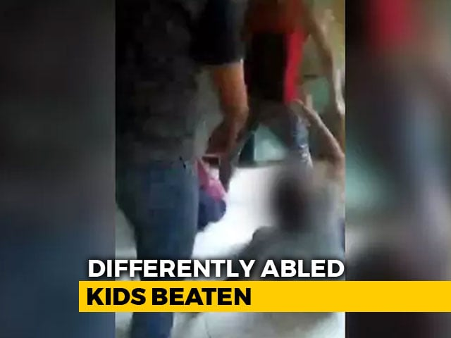 Video : From UP, A Shocking Video Of Attack On Differently Abled Children
