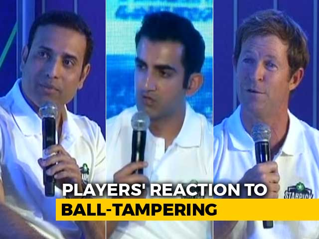 Video : Gautam Gambhir, VVS Laxman And Jonty Rhodes React To Ball-Tampering Saga