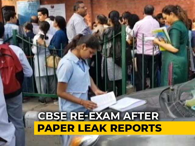 Video : CBSE Board: Re-exam For Class 10 Maths, Class 12 Economics After Alleged Paper Leak