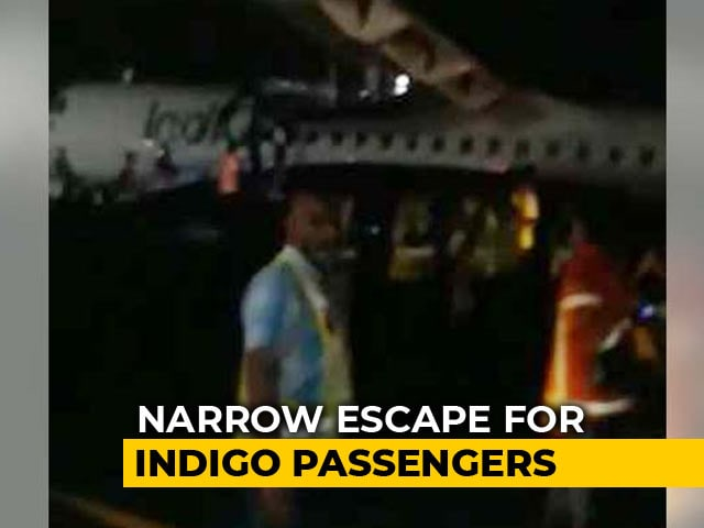 Video : At Hyderabad Airport, Panic Over Tyre Burst Of An Indigo Plane, Passengers Safe